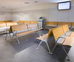 the actiu transit bench offers rest in the waiting rooms along with an avant garde image there is a commitment towards communal office furniture which avant actiu furniture bench
