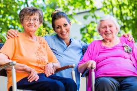 Geriatric Nursing Geriatric Nursing Female Nurse With Seniors