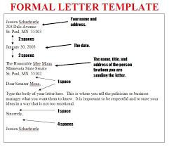Formal Letter Format What Is The Latest Format Of Writing A Formal Letter Brainly In