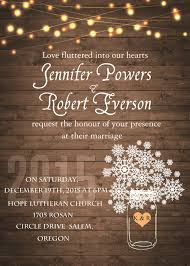 Rustic Winter Wedding Invitations Rustic Stringlight Snowflake Winter Wedding Invitation Ewi410 As Low
