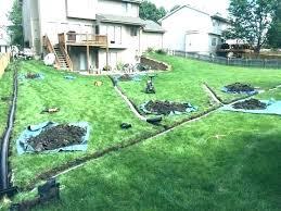 lawn pop up drain pop up yard drain install lawn winter