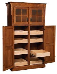 Furniture Kitchen Pantry Amish Mission Rustic Kitchen Pantry Storage Cupboard Roll Shelf