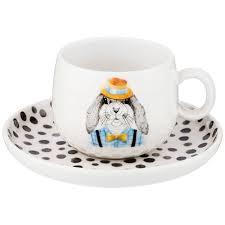 <b>чайная пара lefard</b> fashion animals заяц, на 1пер. 2пр. 260 мл