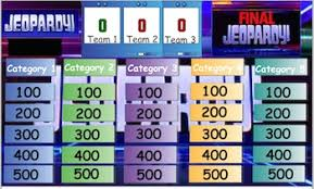 Jeopardy Game Template Smart Notebook Jeopardy Game Template with editable questions and ...