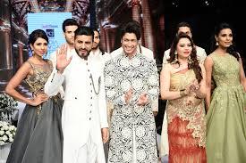 Bharat Designer Wear New Delhi Delhi Designer Duo Bharat Reshma Grover With Actor Vidyut Jamwal