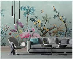 Tropical Rainforest Plants Wall Mural ...