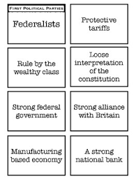 Federalist Vs Democratic Republicans Worksheets Teaching