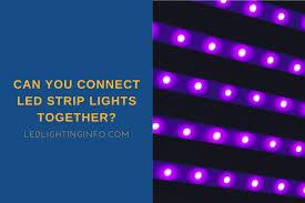 you connect led strip lights together