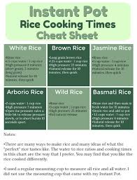 Electric Pressure Cooker Time Chart Pdf Instant Pot Brown Rice