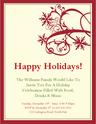 dinner party invitation templates holiday party invitation templates