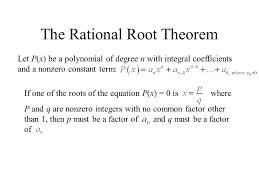 solving higher degree polynomial equations involves recognizing polynomials that have 3 the