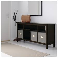 black brown console table hemnes ikea hall tables narrow grey oak coffee living room concrete and wood affordable high gloss unique nest of small mirrored