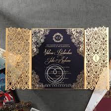 view all wedding invitation designs by adorn Wedding Invitations Laser Cut Australia sophisticated black card in gold foiled border with intricate laser cut pocket cheap laser cut wedding invitations australia