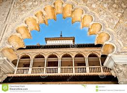Decorations In Spain Decorations In The Royal Alcazars Of Seville Spain Royalty Free