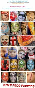 boys face painting ideas sheet print page jpg