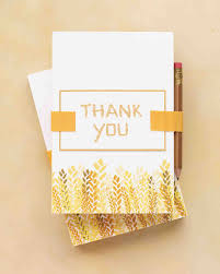 Thank You Notes 9 Tips For Writing Thank You Notes For Wedding Gifts Martha