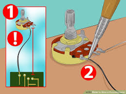 how to wire a potentiometer steps pictures wikihow image titled wire a potentiometer step 2