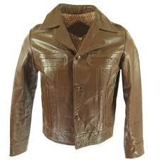 70s leather jacket brown mens h90q 1