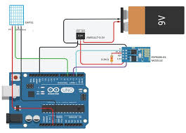iot based humidity and temperature monitoring using arduino uno circuit diagram for monitoring humidity and temperature in iot cloud