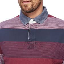 clothing maine new england big and tall dark pink and navy striped rug shirt hswf