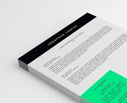 Two Pages Resume Template Psd Word