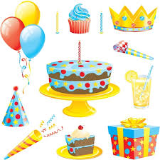 Birthday cake with balloons vector Free vector in Encapsulated