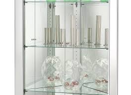 fine glass 680601 howard miller silver finish mirrored corner curio cabinet inside cabinets with glass doors design 12 on