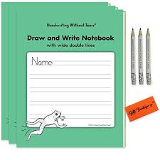 Handwriting Without Tears Writing Notebook Draw And Write English Notebooks With Wide Double Lines Children Award Winning For Students Bonus