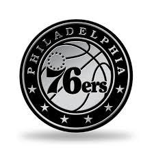 Philadephia 76ers Logo 3d Chrome Auto Decal Sticker Truck Car 3x3 Inches