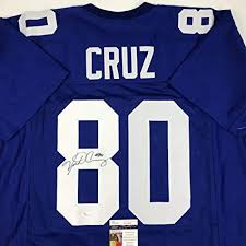 Store New Amazon's Victor Jersey Blue Jsa Coa At Autographed Cruz Collectibles Sports signed York Football
