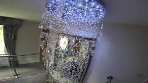 long crystal chandelier stair spiralng drop down chandeliers