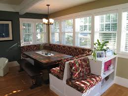 dining nook furniture. famous red patterned corner breakfast nook furniture idea with white framed glass window and potted plant dining s