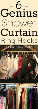 6 genius shower curtain ring hacks these hacks have created so much space in my clear