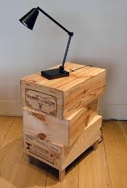 wine crate furniture. wine crate nightstand furniture e