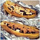barbecued banana splits