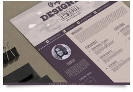 vintage resume template