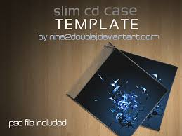 Cd Case Template Photoshop Slim Cd Case Template By Nine2doublej On Deviantart