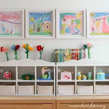 Childrens Artwork Display Childrens Art Work As Home Dccor Playrooms Storage And Room