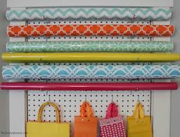 11diy pegboard gift wrap station to make it