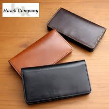 rockingchair hawk company hawk company wallet mens womens brand leather wallet leather long wallet flap italian leather vegetable tannin business casual