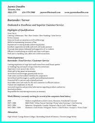 19 Bartender Server Resume Lock Resume