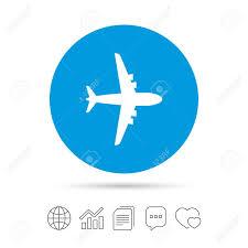 Airplane Sign Plane Symbol Travel Icon Flight Flat Label