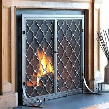 outdoor fireplace screens plow hearth 1 panel geometric fireplace screen reviews outdoor fireplace screen porch
