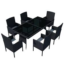 outdoor dining set piece poly rattan black glass top table chairs h m s remaining 13 montreal setting piece dining set 13 montreal outdoor setting