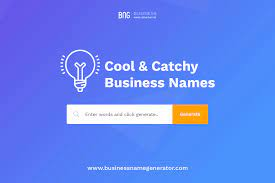 cool and catchy business name ideas