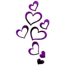 Buy Bikri Kendra RadhaKripa <b>Love</b> Hearts <b>3D</b> Acrylic <b>Mirror</b> Wall ...