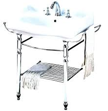 console sink legs with metal room ornament utility v