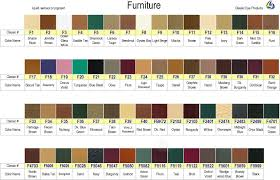 Brillo Leather Color Spray Dye Chart Leather Colors Chart