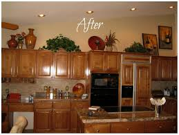 impressive kitchen decorating ideas. Fair Decorating Above Kitchen Cupboards About Cabinet S Top Photo 1 Ideas Cabinets Impressive