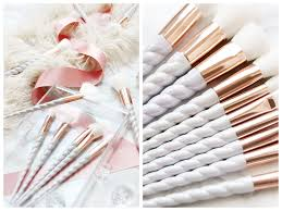 unicorn makeup brushes uses. i mean these brushes have character with so much attention to detail. as you can see the brush fibres are pure white, unicorn makeup uses d